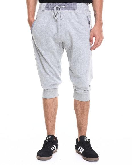 Ur-ID 220951 Waimea - Men Grey Contrat Waist Knit Jogger