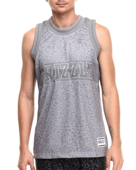 Ur-ID 220960 Grizzly Griptape - Men Grey Trippy Trail Jersey