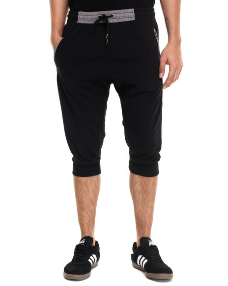 Waimea - Men Black Contrat Waist Knit Jogger
