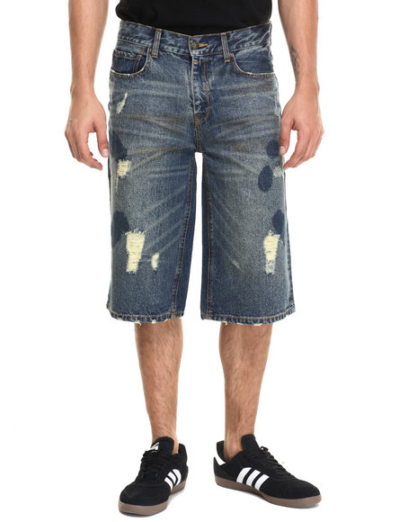 Rocawear Blak - Men Vintage Wash Blotted Shorts