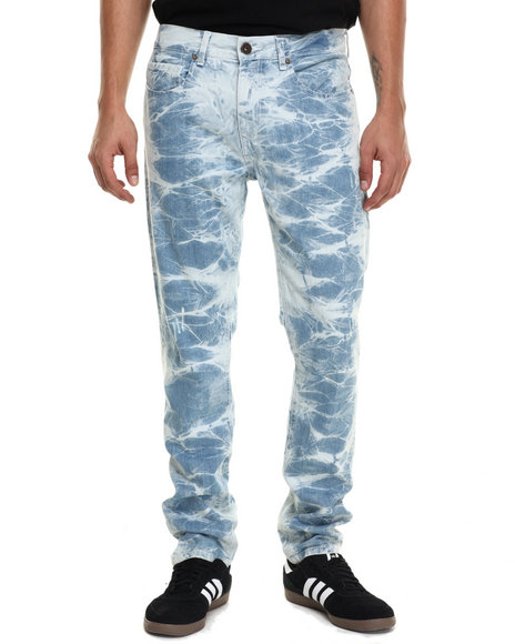 Rocawear Blak - Men Light Wash White Light Denim Jeans