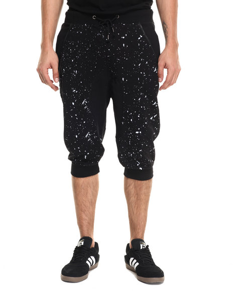 Ur-ID 223448 Waimea - Men Black Side Zip Jogger W Splatter Print