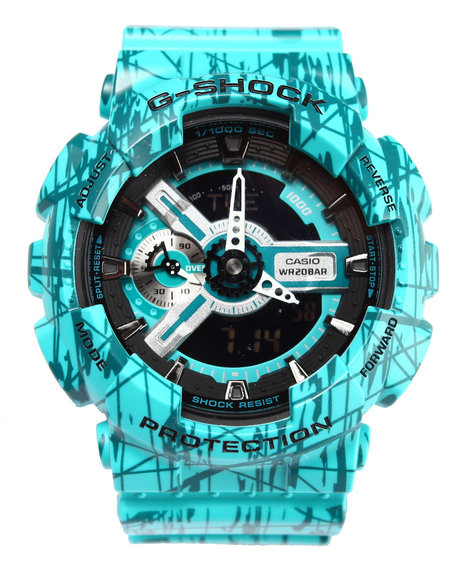 G-Shock By Casio Men Slash Pattern Watch Green
