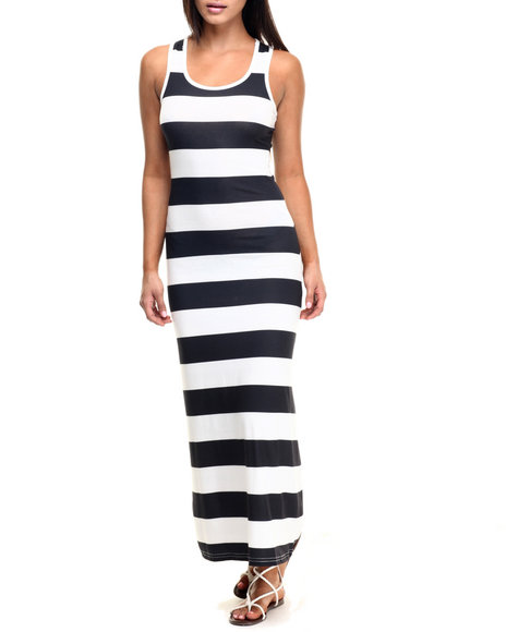Ur-ID 223468 Fashion Lab - Women White Stripe Maxi Dress