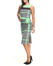 Fashion Lab - Joan Plaid Midi Dress