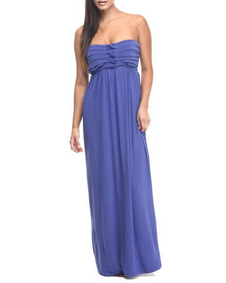 Ur-ID 223480 Paperdoll - Women Blue Empress Strapless Maxi Dress