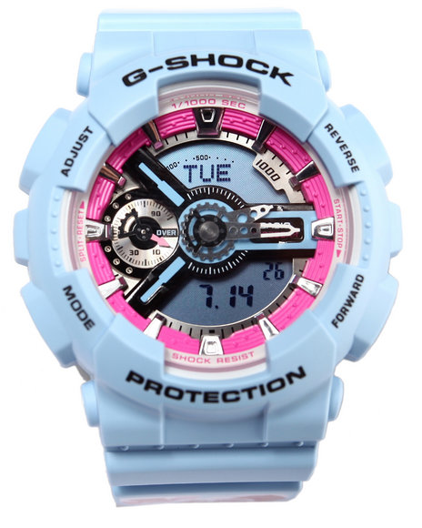 G-Shock By Casio Men Flower Design Watch Blue