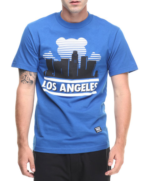 Ur-ID 223495 Grizzly Griptape - Men Blue Sunny Nights Los Angeles Tee