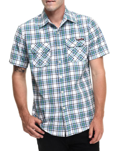 Ur-ID 223496 Enyce - Men Green Ed S/S Button-Down