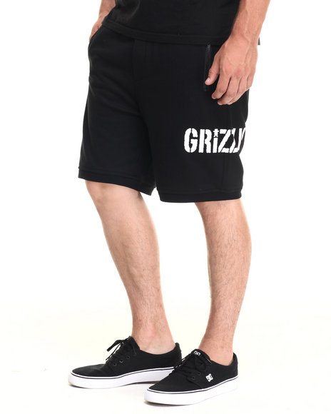 Ur-ID 223497 Grizzly Griptape - Men Black Grizzly Trail Runner Shorts