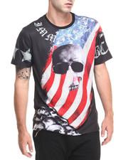 Hudson NYC - U S A Skull Flag S/S Tee