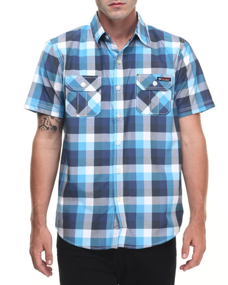 Ur-ID 223500 Enyce - Men Blue Peter S/S Button-Down