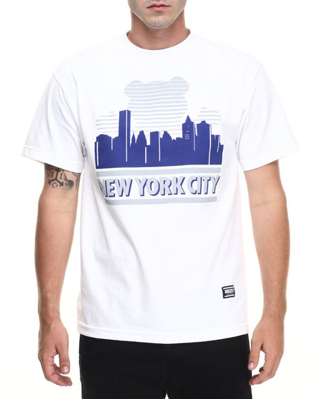 Ur-ID 223502 Grizzly Griptape - Men White Sunny Nights New York City Tee