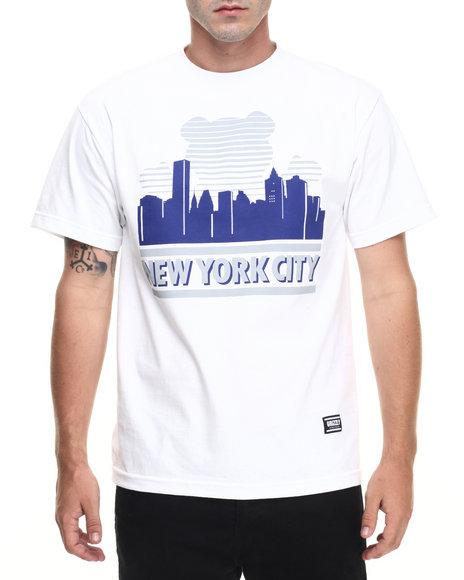 Ur-ID 223502 Grizzly Griptape - Men White Sunny Nights New York City Tee