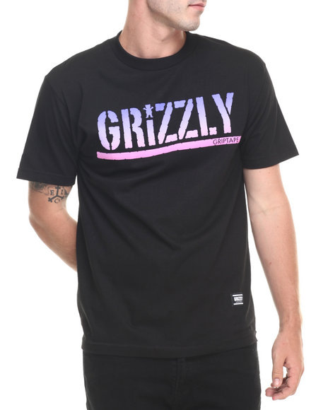 Ur-ID 223509 Grizzly Griptape - Men Black Sunset Woods Stamp Tee