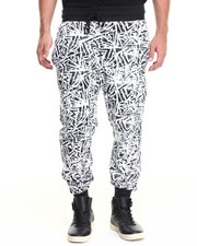 Men - Distressed Geo Print Jogger