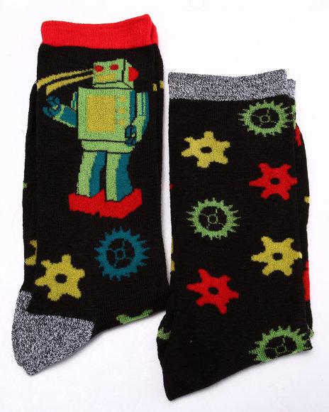Drj Sock Shop Men Knick Knacks 2Pk Crew Socks Black 10-13 - $5.99