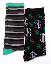 Men - Dollar Signs 2Pk Crew Socks