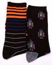 Men - Robots 2Pk Crew Socks