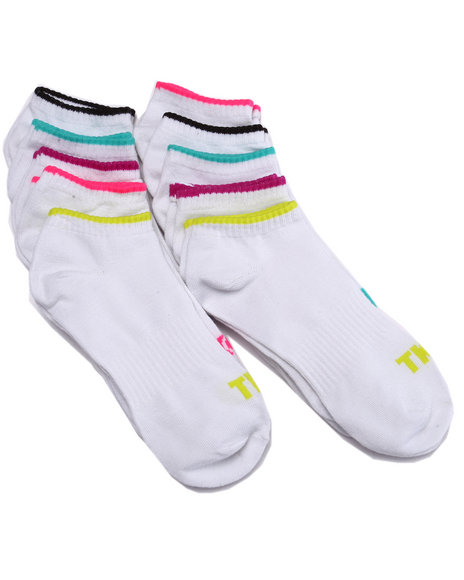 Drj Sock Shop - Women White No Show Arch Support 10Pk Socks