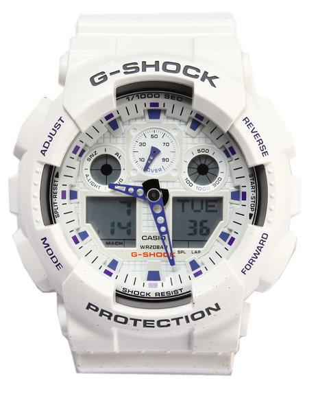 G-Shock By Casio Men Ga-100 Watch White