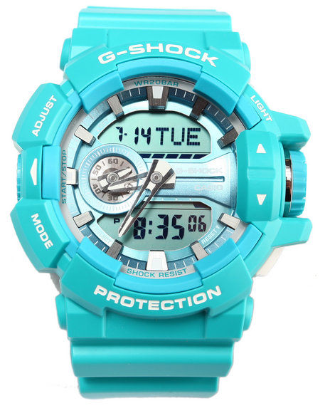 G-Shock By Casio Men Rotary Swtich Mission Timer Watch Blue