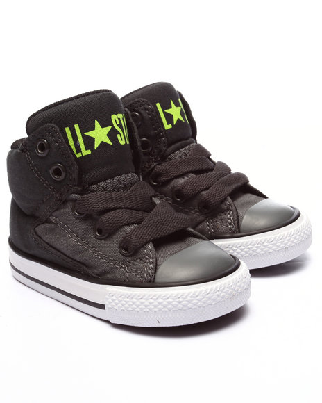 Converse - Boys Grey Chuck Taylor All Star High Street (5-10)