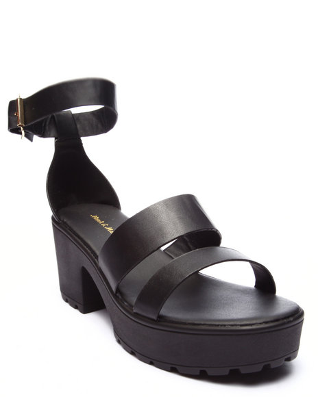 Ur-ID 223464 Fashion Lab - Women Black Kenny Ankle Strap Heeled Platform Sandal