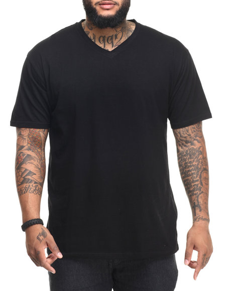 Basic Essentials - Men Black Premium V - Neck S/S Tee (B&T)