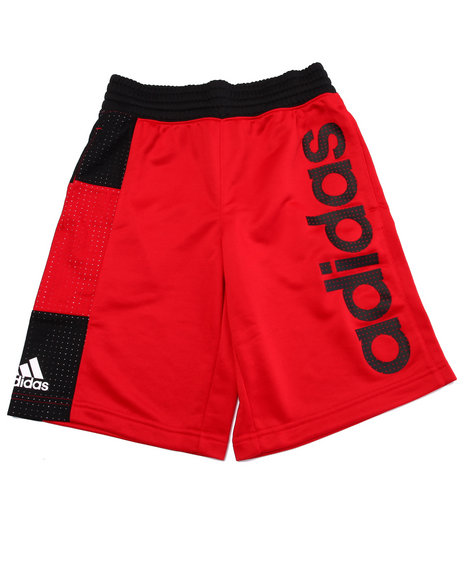 Adidas - Boys Red Adidas Basketball Crazy 8 Shorts (8-20)