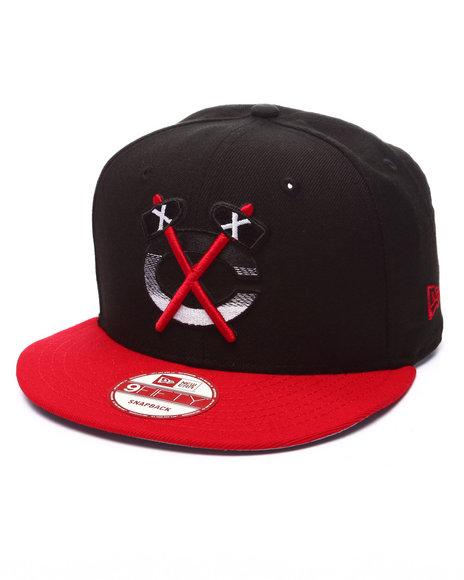 Ur-ID 223521 New Era - Men Black Chicago Blackhawks Faded 950 Snapback Hat