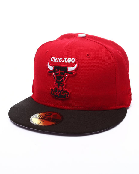 Ur-ID 223523 New Era - Men Red Chicago Bulls Champs 5950 Fitted Hat