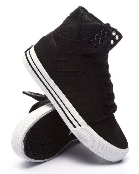 Ur-ID 223526 Supra - Women Black Skytop Satin Sneaker