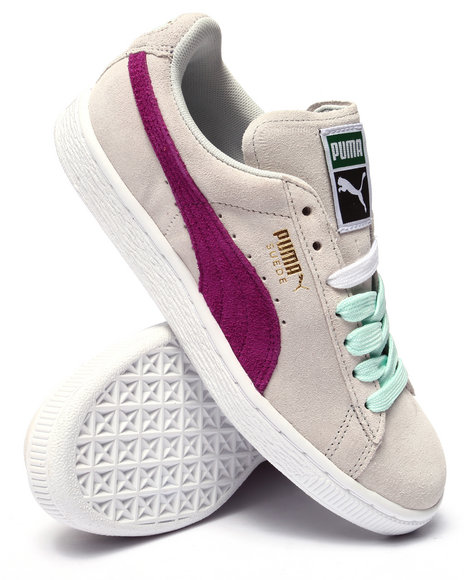 Puma - Women Grey Suede Classic Sneakers
