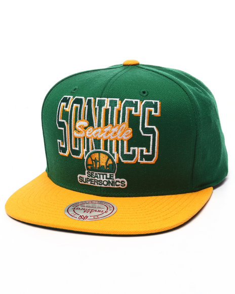 Mitchell & Ness Men Seattle Supersonics Classic Snapback Cap Green
