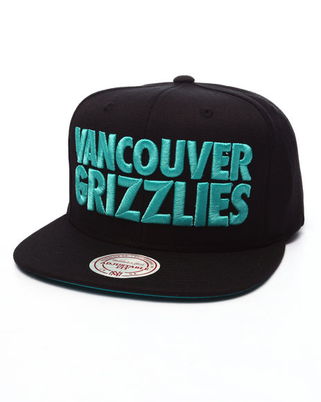Mitchell & Ness Men Vancouver Grizzlies Hwc Title Snapback Cap Black