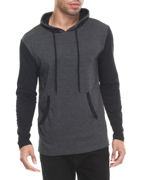 Ur-ID 223623 Basic Essentials - Men Charcoal Enzo Colorblock Hoodie