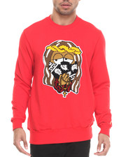 Men - D9 x MINA KWON CHENILLE JESUS PIECE CREWNECK LTD