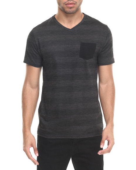 Buyers Picks - Men Charcoal Jasper V Neck Tee