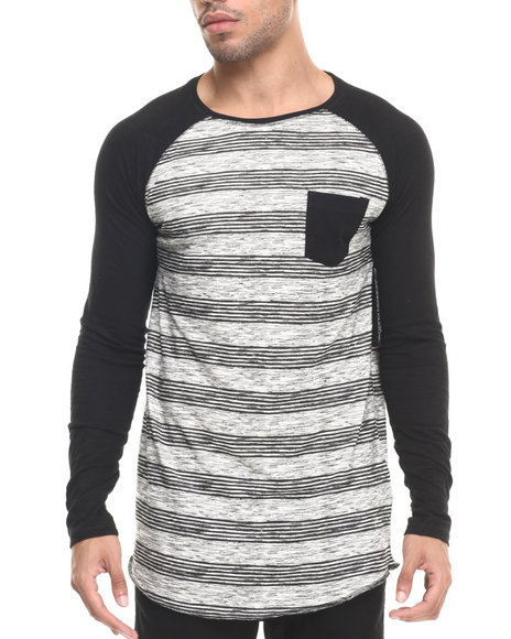 Ur-ID 223528 Buyers Picks - Men Cream Jasper Raglan L/S Tee