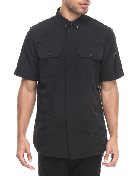 Rocawear Blak - Men Black Sumner S/S Button-Down
