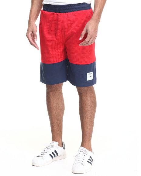 Ur-ID 223533 Diamond Supply Co - Men Red Diamond Arch Basketball Shorts