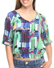Women - Abstract Print 3/4 Sleeve Top