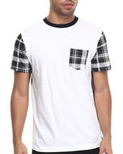 Basic Essentials - Peace Plaid Tee