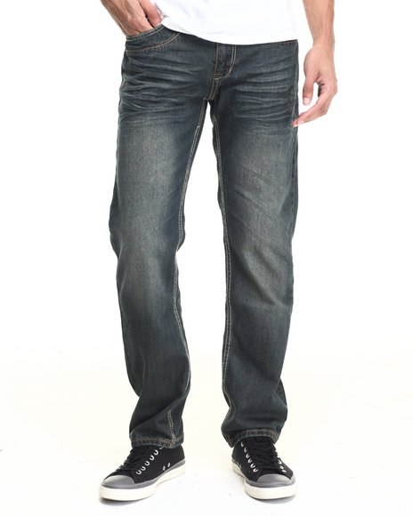 Basic Essentials - Men Indigo Chopper Straight Fit Jean