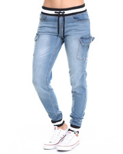 Women - Knit Denim Cargo Pocket Jogger