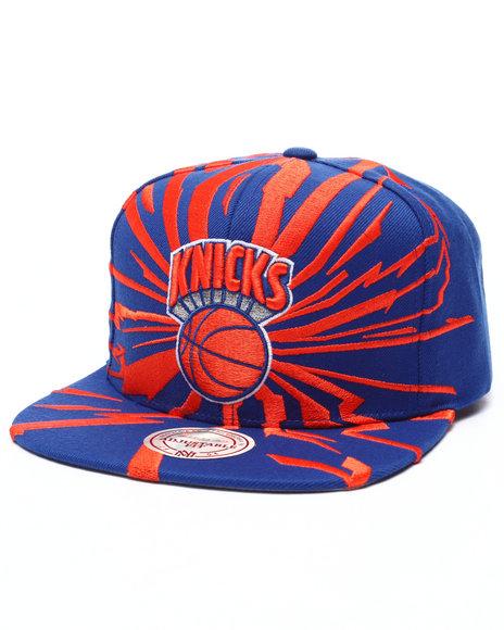 Ur-ID 223600 Mitchell & Ness - Men Blue,Orange New York Knicks Hwc Earthquake Solid Snapback Cap