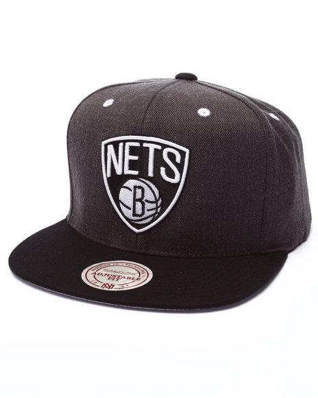 Ur-ID 223651 Mitchell & Ness - Men Grey Brooklyn Nets Logo Snapback Cap