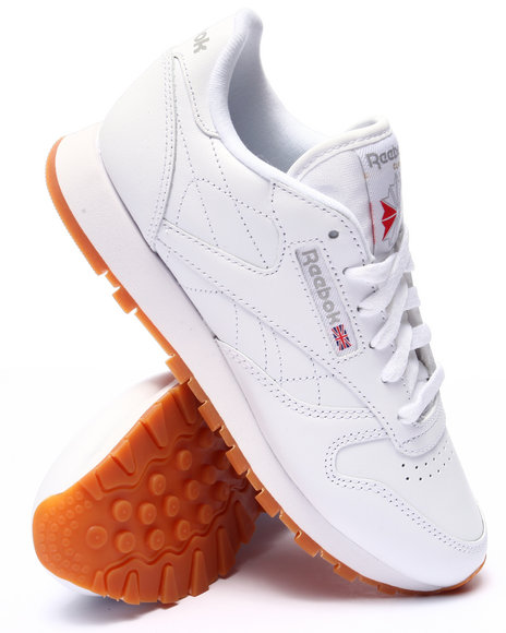 Ur-ID 223662 Reebok - Women White Classic Leather Sneakers