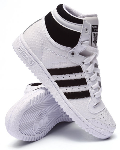 Ur-ID 223679 Adidas - Women White Top Ten Hi Embossed W Sneakers